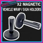 SIGN VINYL GRAPHICS VEHICLE WRAP WRAPPING TOOL MAGNETIC HOLDERS X2